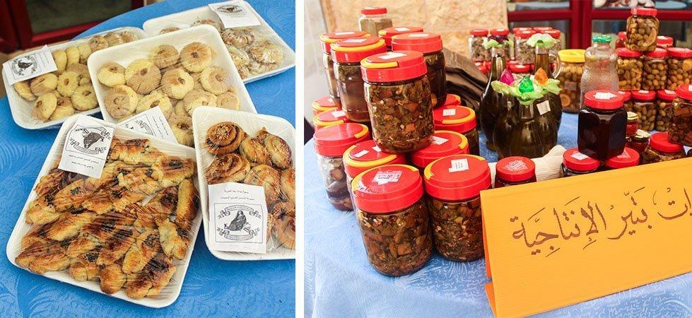 Food from bazaar in West Bank