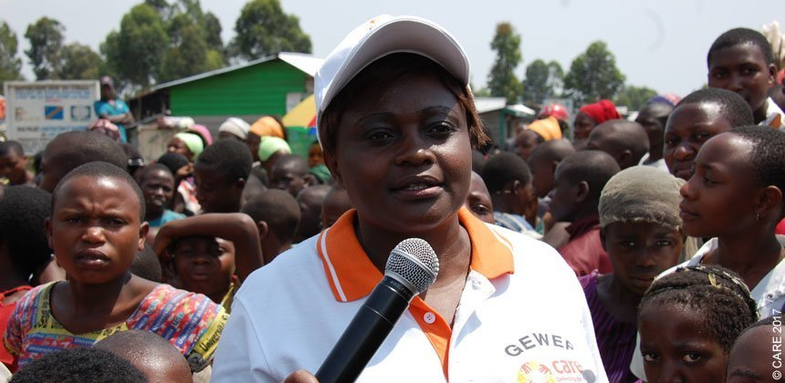 Rose Vive Lobo coordinates a CARE gender-based violence project in the DRC