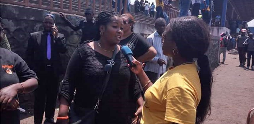 Nelly Mbangu is a co-founder of Dynamique des Femmes Juristes in Eastern DRC