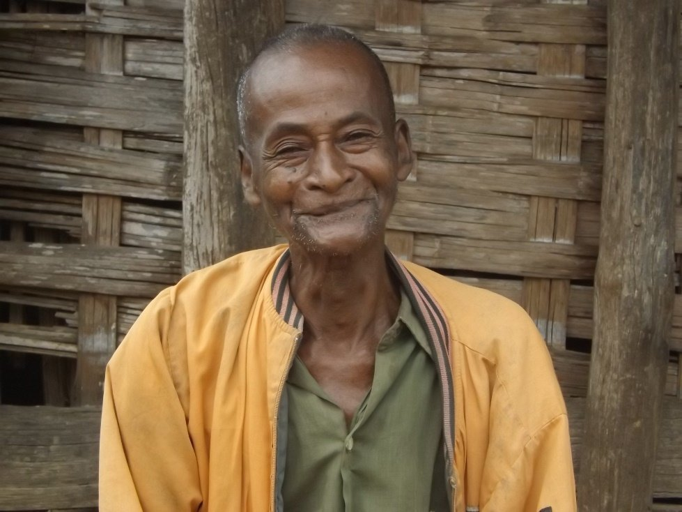 Albert, who lives on his own in his house in Madagascar