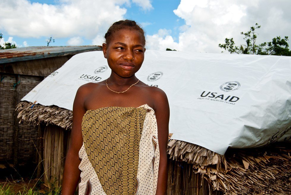 Yozenette, a young woman who takes care of her mother. Antalaha, Madagascar