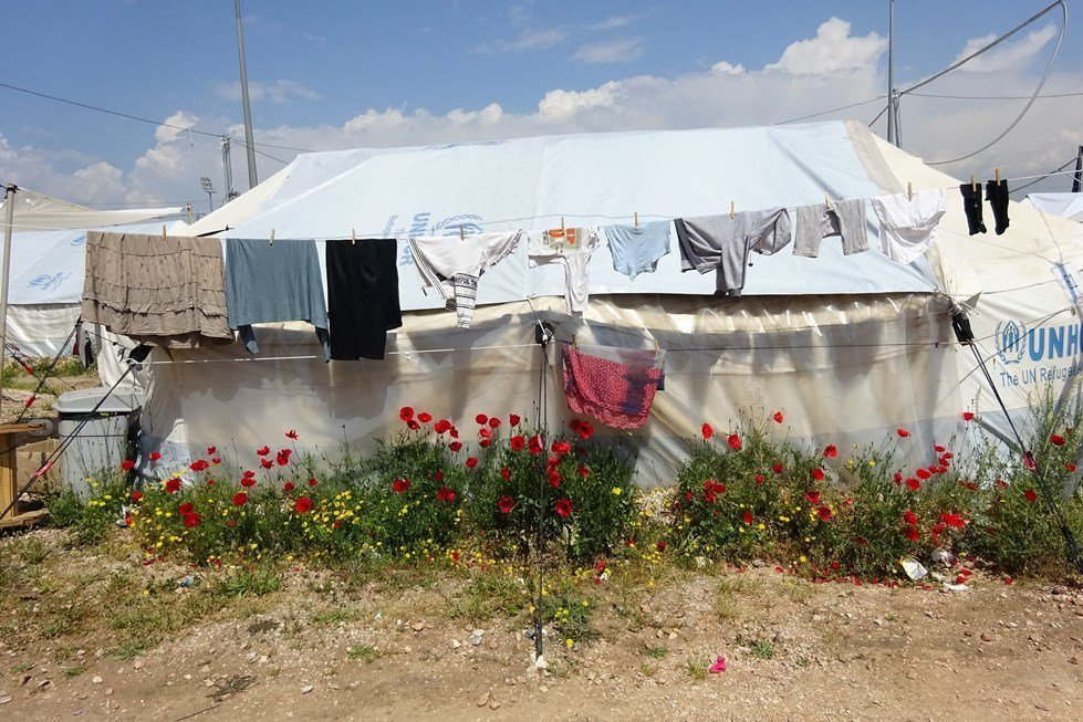 Elliniko refugee and IDP camp in Athens, Greece.