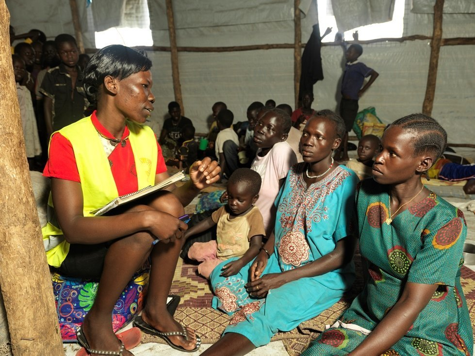 Mary Maturu works in one of CARE's women