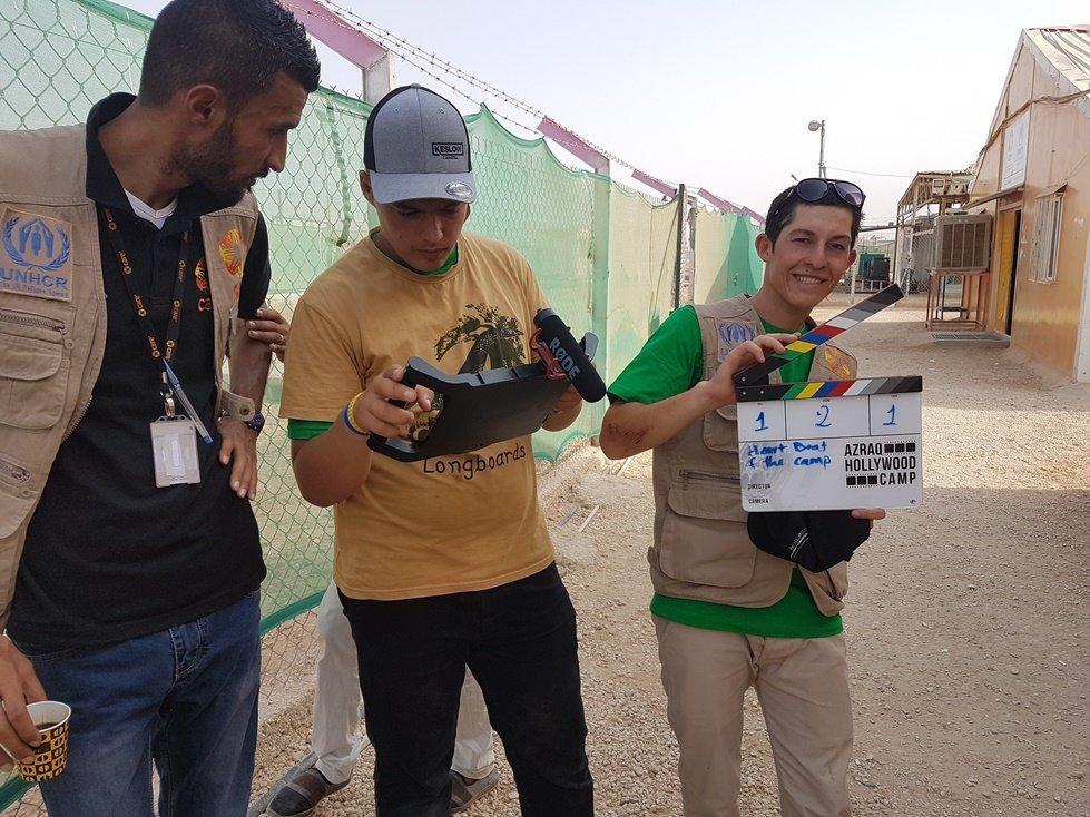 CARE filmmaking workshop at Azraq refugee camp, Jordan