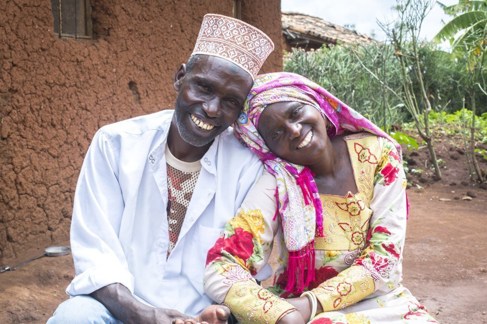 """Because of their involvement in CARE's """"Journeys of Transformation"""" project, Ntibimenya Hassan and Mukakimonyo Hassina have learned how to have a better marriage."""