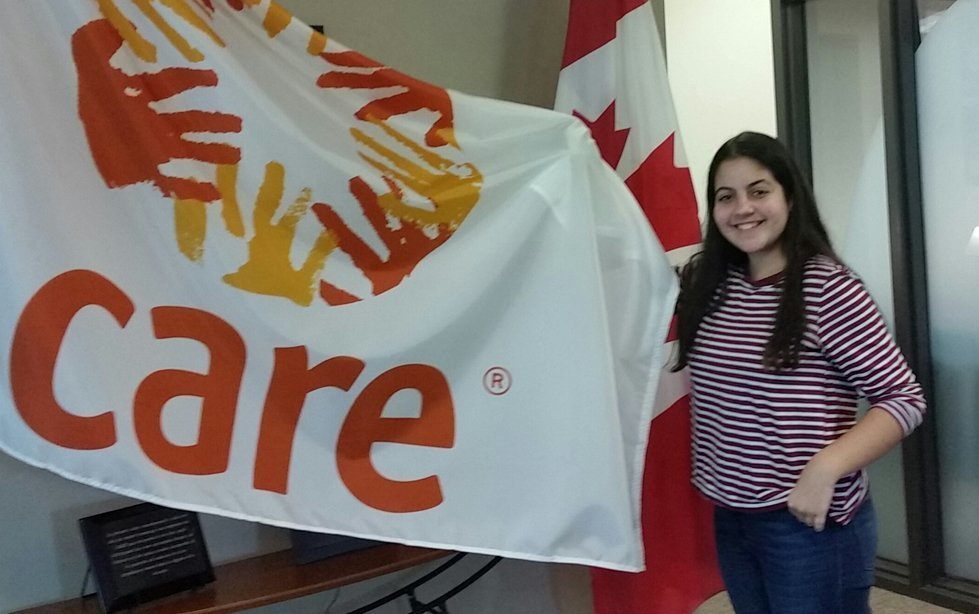 Thanina Maouche visits CARE Canada's office
