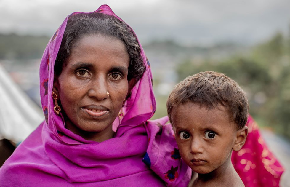 Kulsoma lives in a makeshift shelter in Unchiprang refugee settlement in Cox's Bazaar, Bangladesh with her husband and five children.