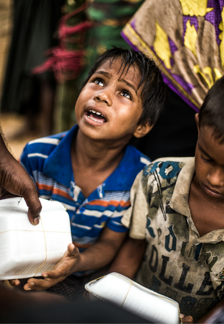 Hossein is a seven year-old refugee from Myanmar. He is now living in Balukhali camp in Bangladesh