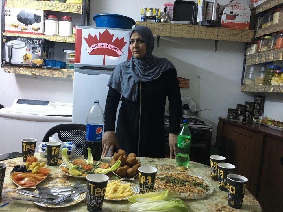 Fusool in her kitchen in Jordan