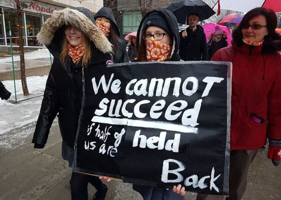 Women's march in Ottawa, 2017. Photo by CARE