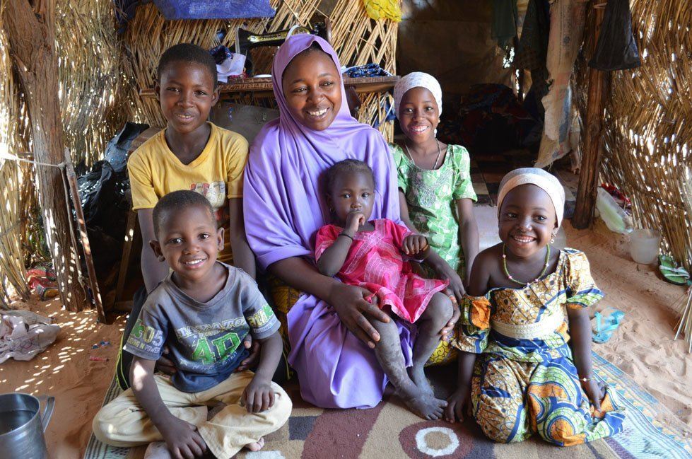 Lami Mahamadou with her six children