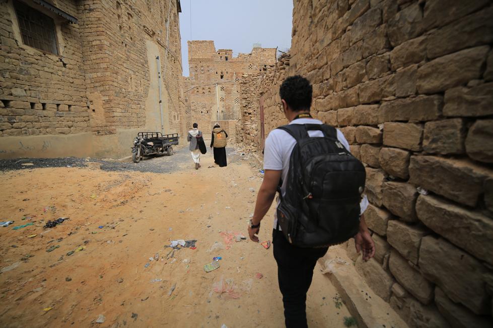 Walking the streets in Yemen