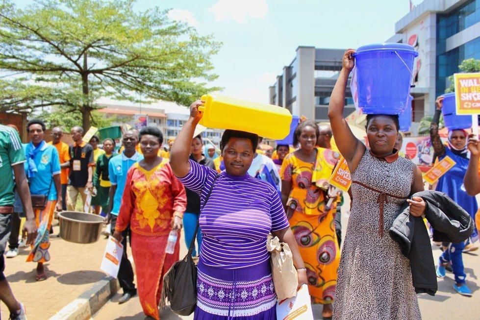 Women in Rwanda march for International Women's Day 2017