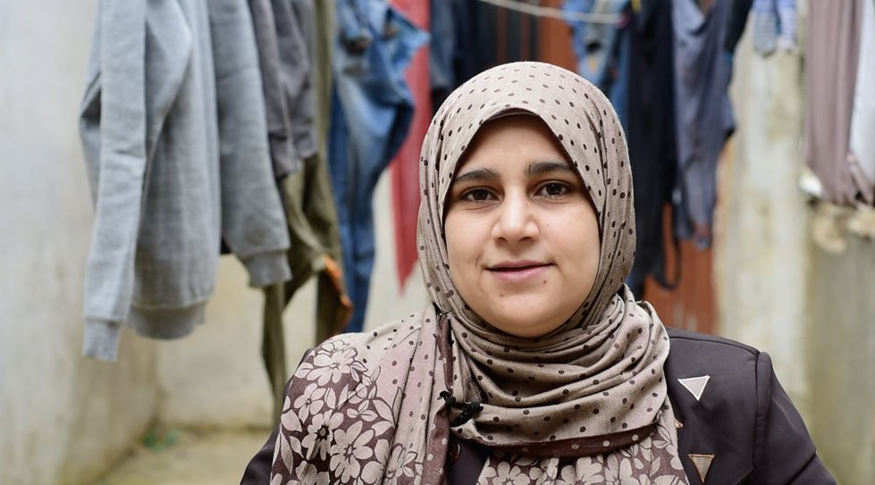Fatmeh is a 23 year-old married mother of two girls, 3 year-old Hala and 5 month-old Layla