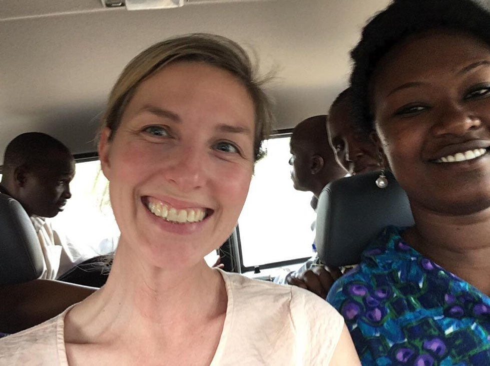 CARE's Rebecca Davidson visiting maternal health projects in Tanzania