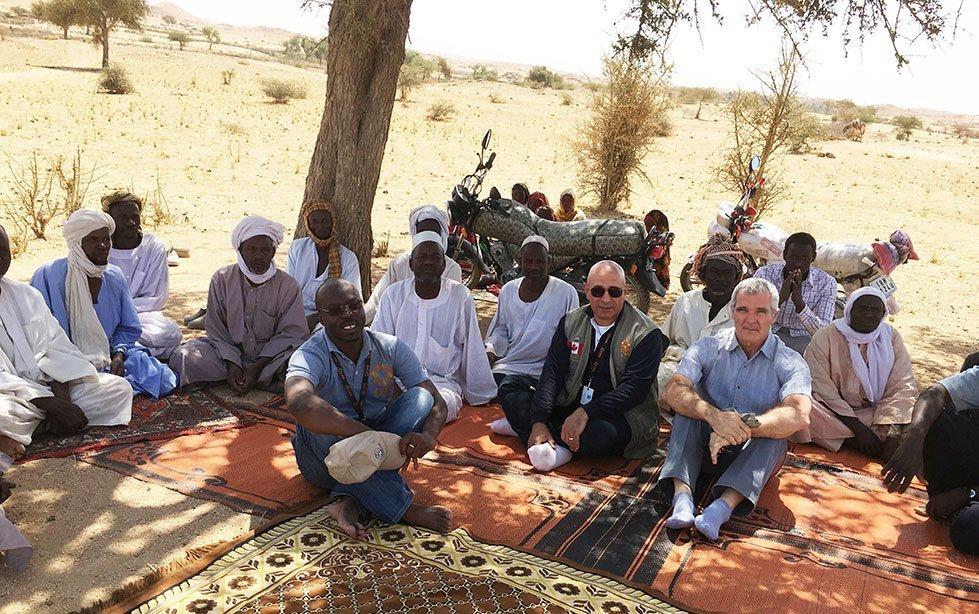 Meeting with local farmers near community garden near Biltine, Chad. Photo: Kadry Furany/CARE
