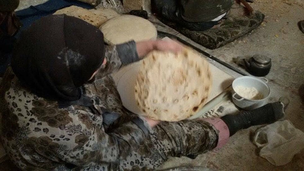 Faced with the shortage of wheat flour, women of Eastern Ghouta have started using barley, corn flour and even fodder to bake bread, which is sometimes the only available food for the day.