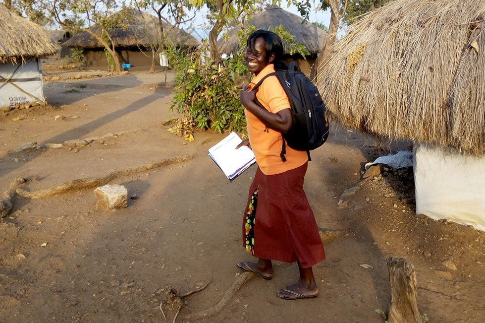 "Grace is one of 80 gender-based violence ""preventers"" trained by CARE working in a refugee settlement in Uganda."