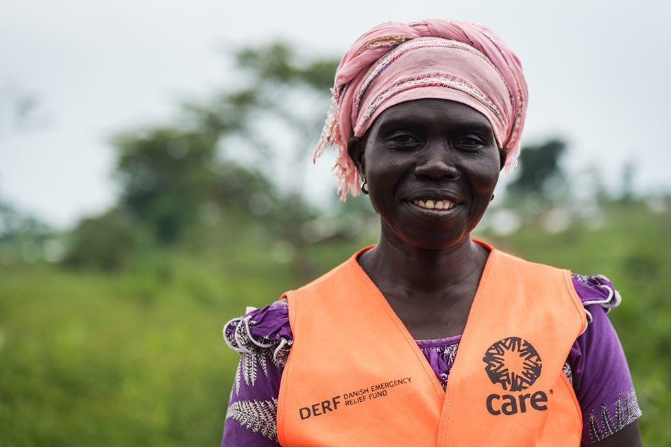 Andrea volunteers for CARE and is a refugee from DRC herself. Photo: Thomas Markert/CARE
