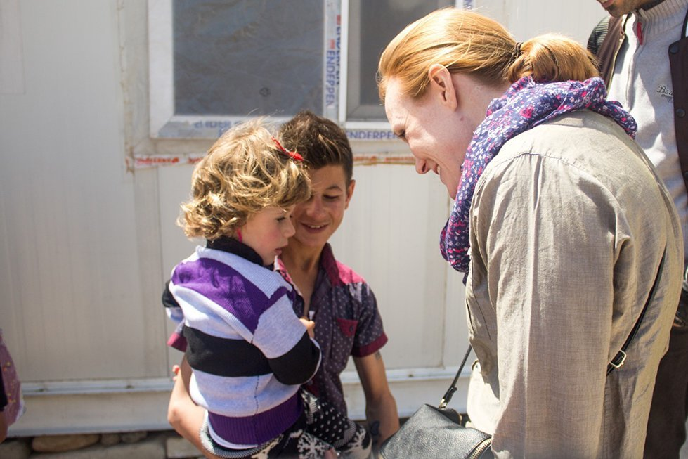 Jessie Thomson at a displaced persons camp in Northern Iraq