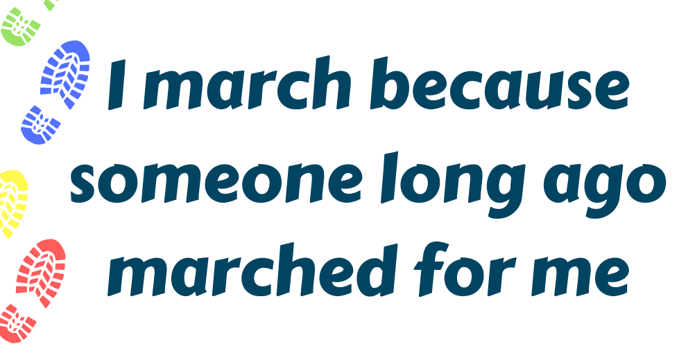 I march