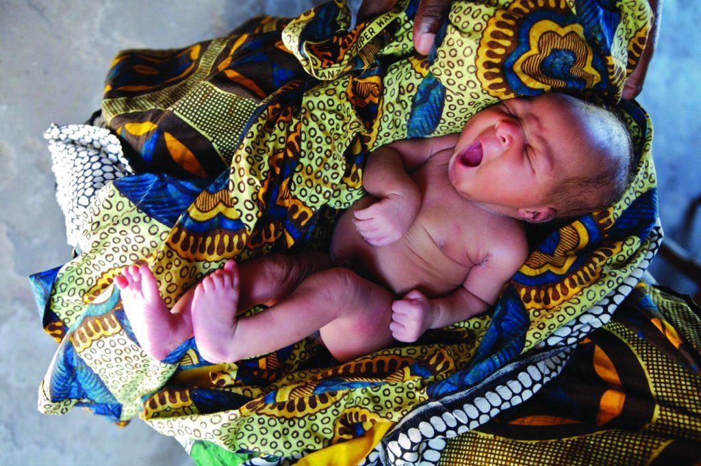 Newborn baby in Tanzania