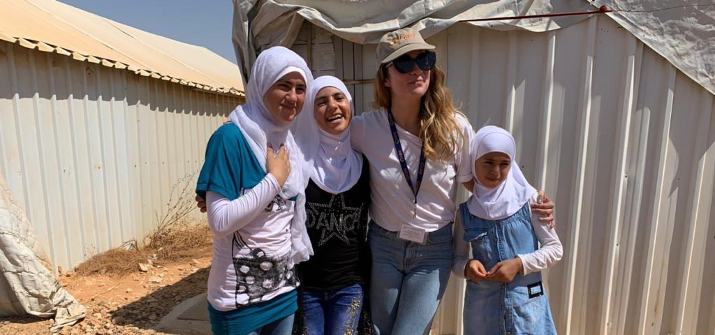 Annie Murphy visits Azraq Refugee Camp in Jordan with CARE