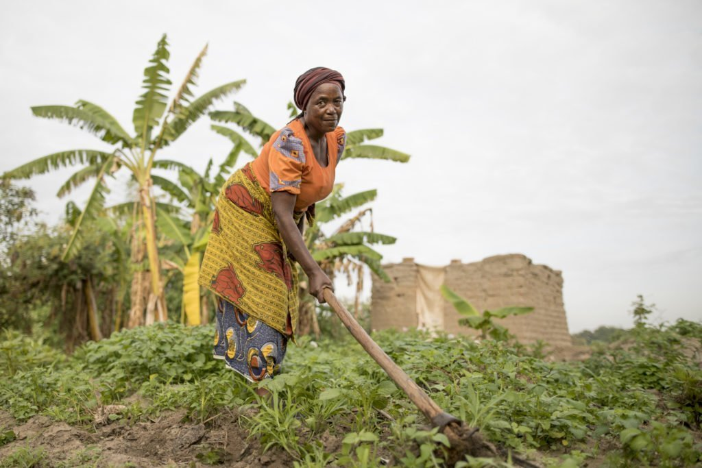 Otavina in her farm in the village in Iringa, Tanzania.