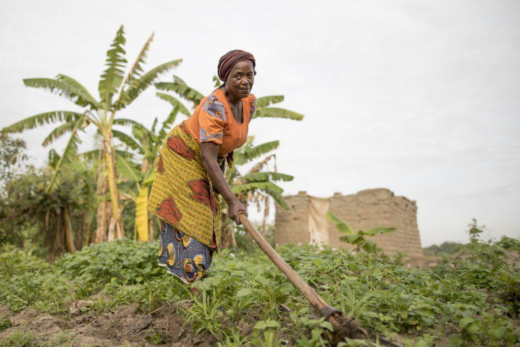 Otavina in her farm in the village in Iringa, Tanzania.