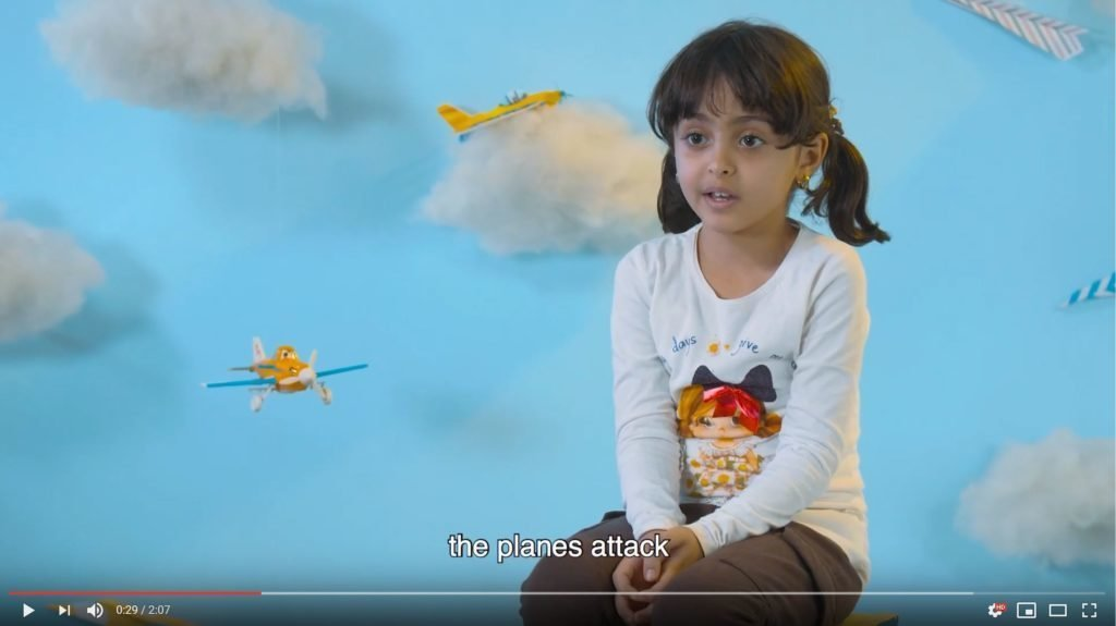Video: Kids in Yemen talk about airplanes