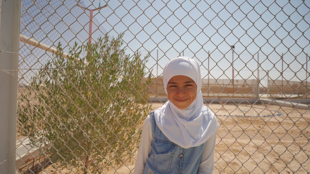 One of Asma's younger sister in Azraq refugee camp, Jordan