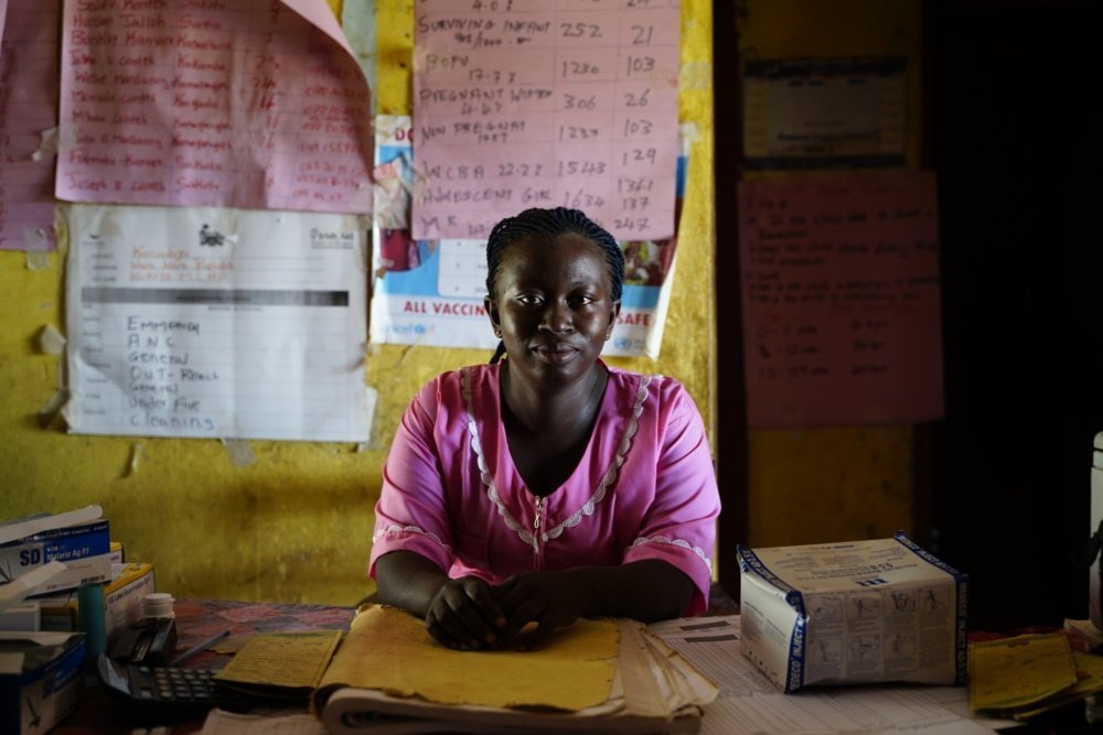 Rosaline, 29, is a nurse in Sierra Leone. CARE is a partner of the Kakoya health facility in Koinadugu district where she works. She is helping respond to the COVID-19 pandemic with CARE