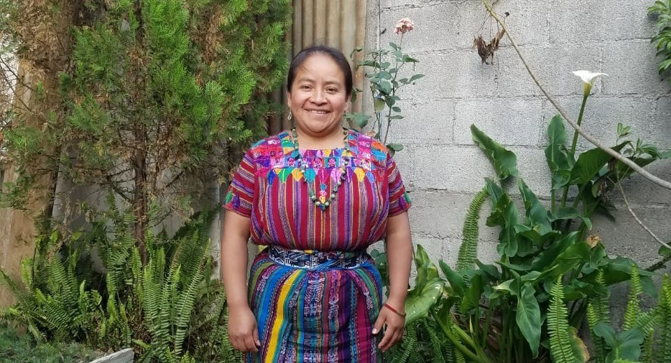 Gilda Esperanza Ixen Cum is president of a women's cooperative in Guatemala that produces soya bean derivatives.