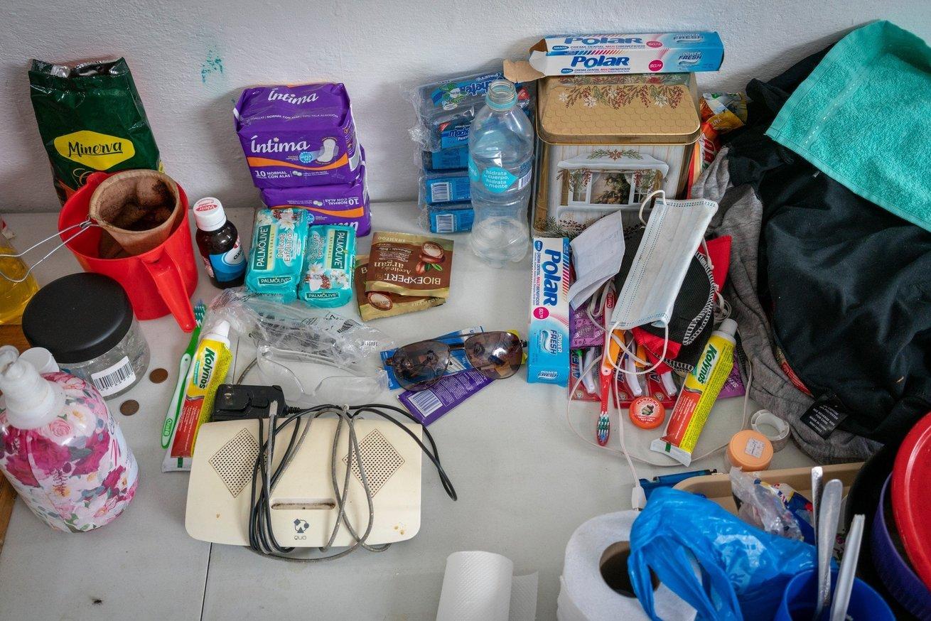 Some hygiene items CARE distributes in Ecuador