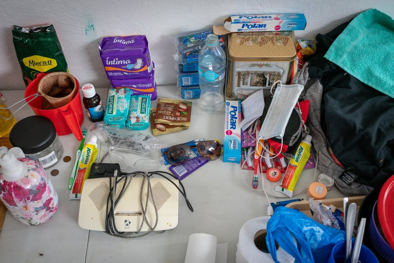 Some hygiene items CARE distributes in Ecuador