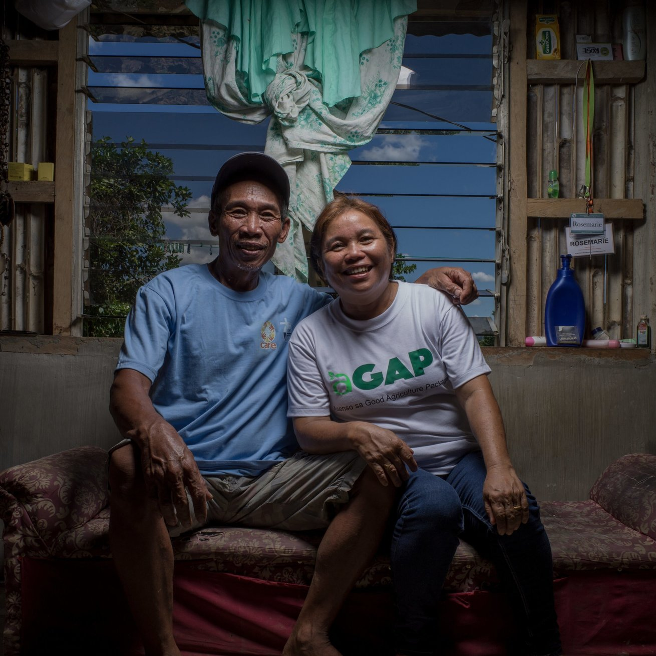 Rosemarie Arante, 48, is a farmer who's house and crops were destroyed when her community was decimated by Typhon Yolanda. She lost everything and has since rebuilt with the help of CARE and the aGAP project. Today she is a story off success