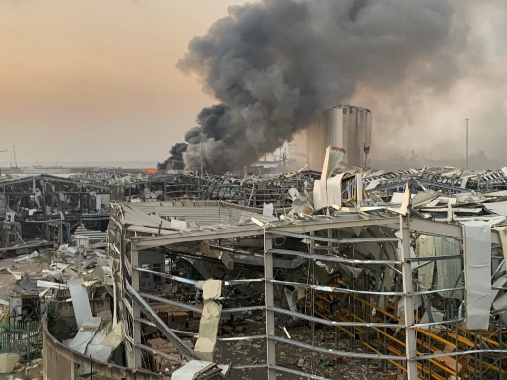 Beirut, Lebanon following an explosion on August 4, 2020