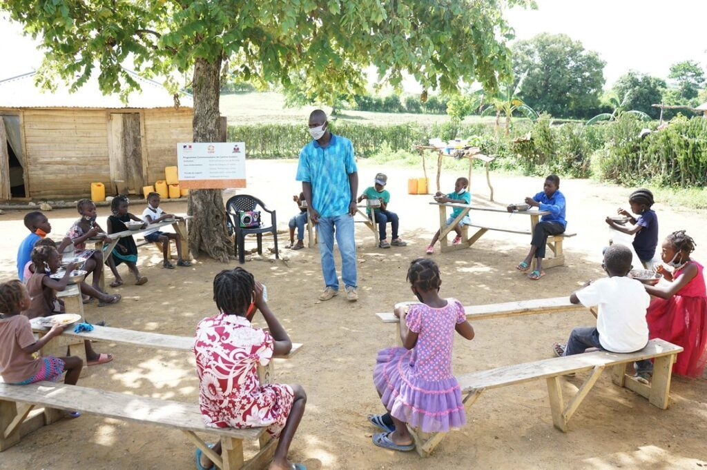 CARE Haiti provides a community canteen for children affected by the closure of schools following the COVID-19 crisis.