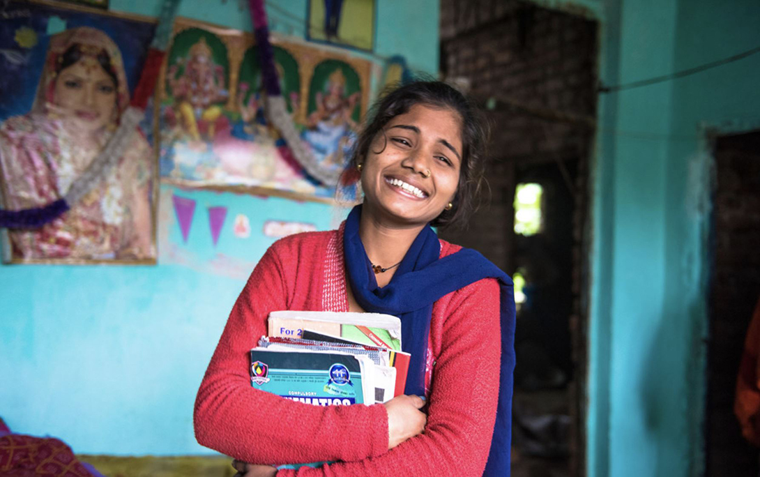 Priyanka is the president of a girls club at her school in Thumuhawa Piparahawa, Nepal. Photo: Carey Wagner/CARE