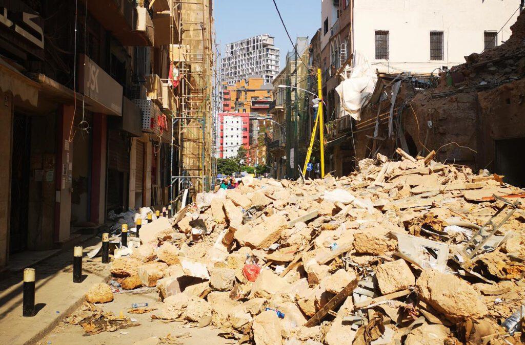 Beirut, Lebanon following explosion August 4, 2020. Photo: Ramzi Saliba/CARE