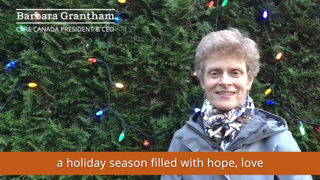 A holiday message from Barbara Grantham, CARE Canada's President & CEO