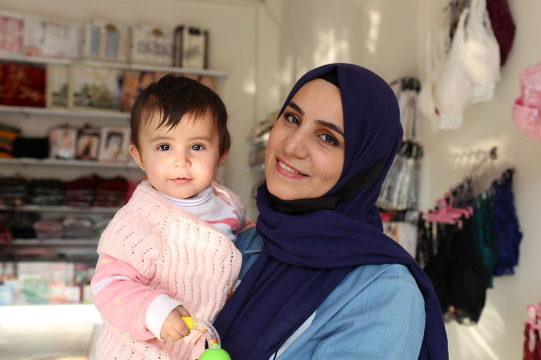 Shifa is a Syrian refugee living in Turkey. After attending CARE training programs, she was able to expand her business and secure her income.