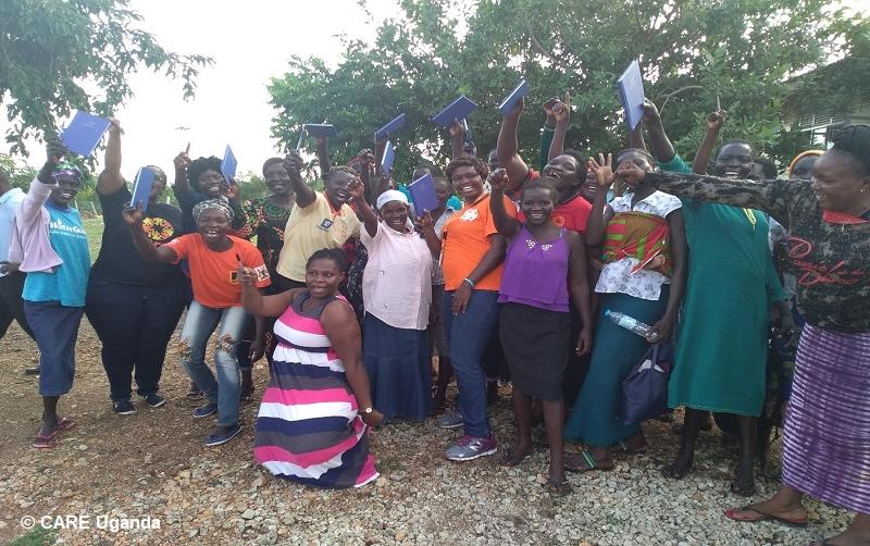 VSLA training, Women Lead in Emergencies, West Nile. CARE Uganda.