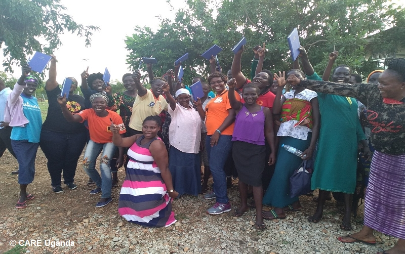 VSLA training, Women Lead in Emergencies, West Nile. CARE Uganda.