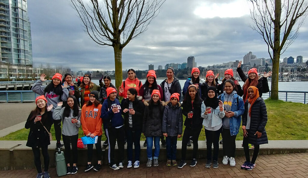 Vancouver Youth CARE Committee (YCC) at a Walk In Her Shoes event