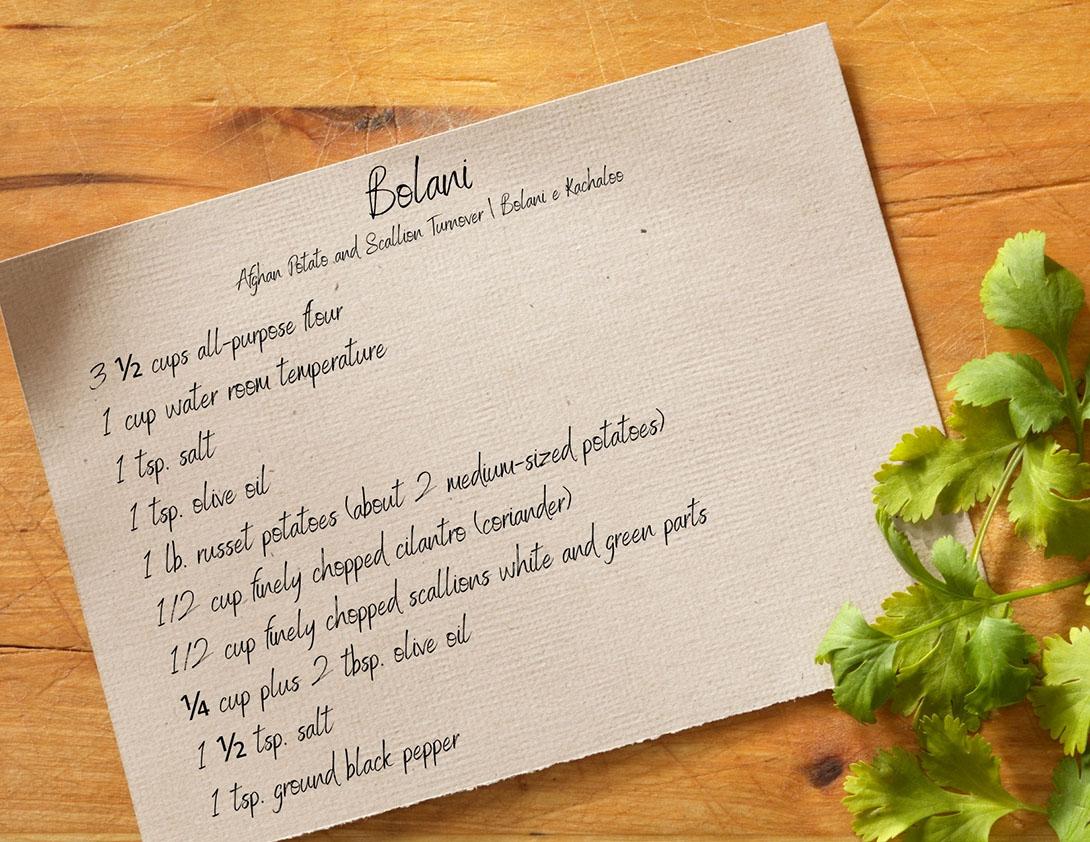 Safora's Bolani recipe