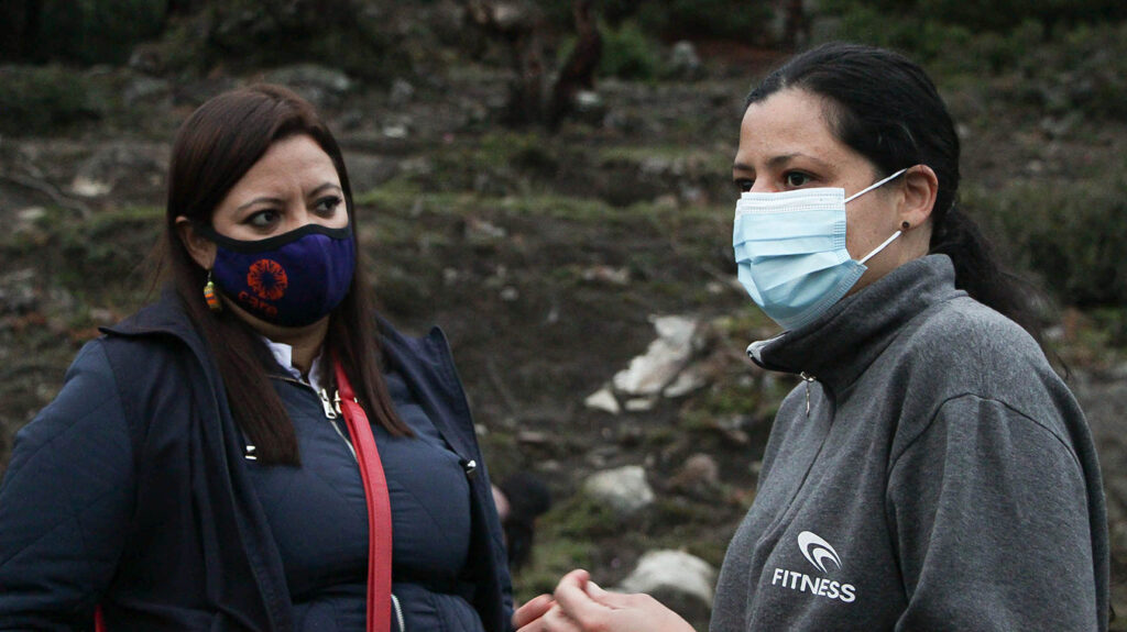 Photo: Marisa working with a CARE Colombia staff member. ©CAREColombia
