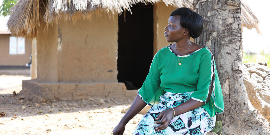 Halatu Benjamin in the Omugo settlement in northern Uganda. All photos by CARE Uganda.