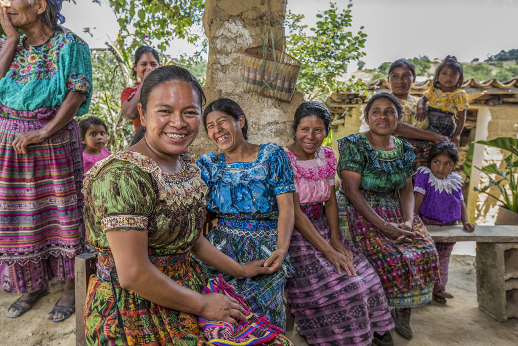 CARE Action Network Fellowship Learning Tour, Guatemala, July 2017. Meeting with members of a Village Savings and Loan Association to address food insecurity and building resilience in the Quiché Dry Corridor. Copyright Caroline Joe/CARE