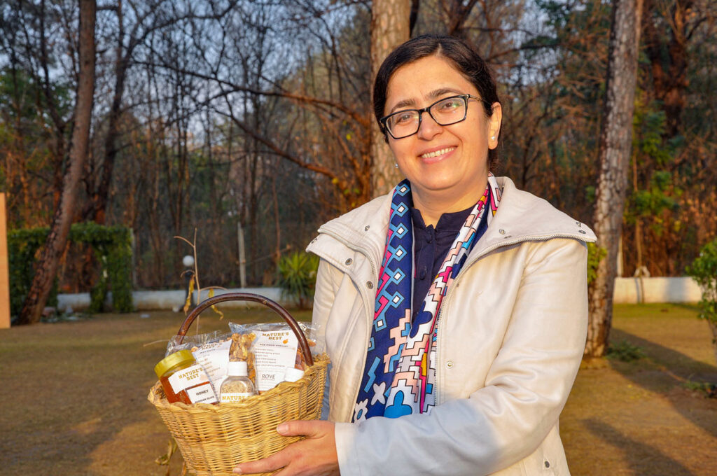 Fouzia Qazi owns a tourism business in Gilgit Baltistan in north Pakistan, as well as a second venture 'Nature's Best' selling dried fruits, honey and oils. CARE's Ignite program supports Fouzia to further develop her networks and skills. © 2021 CARE